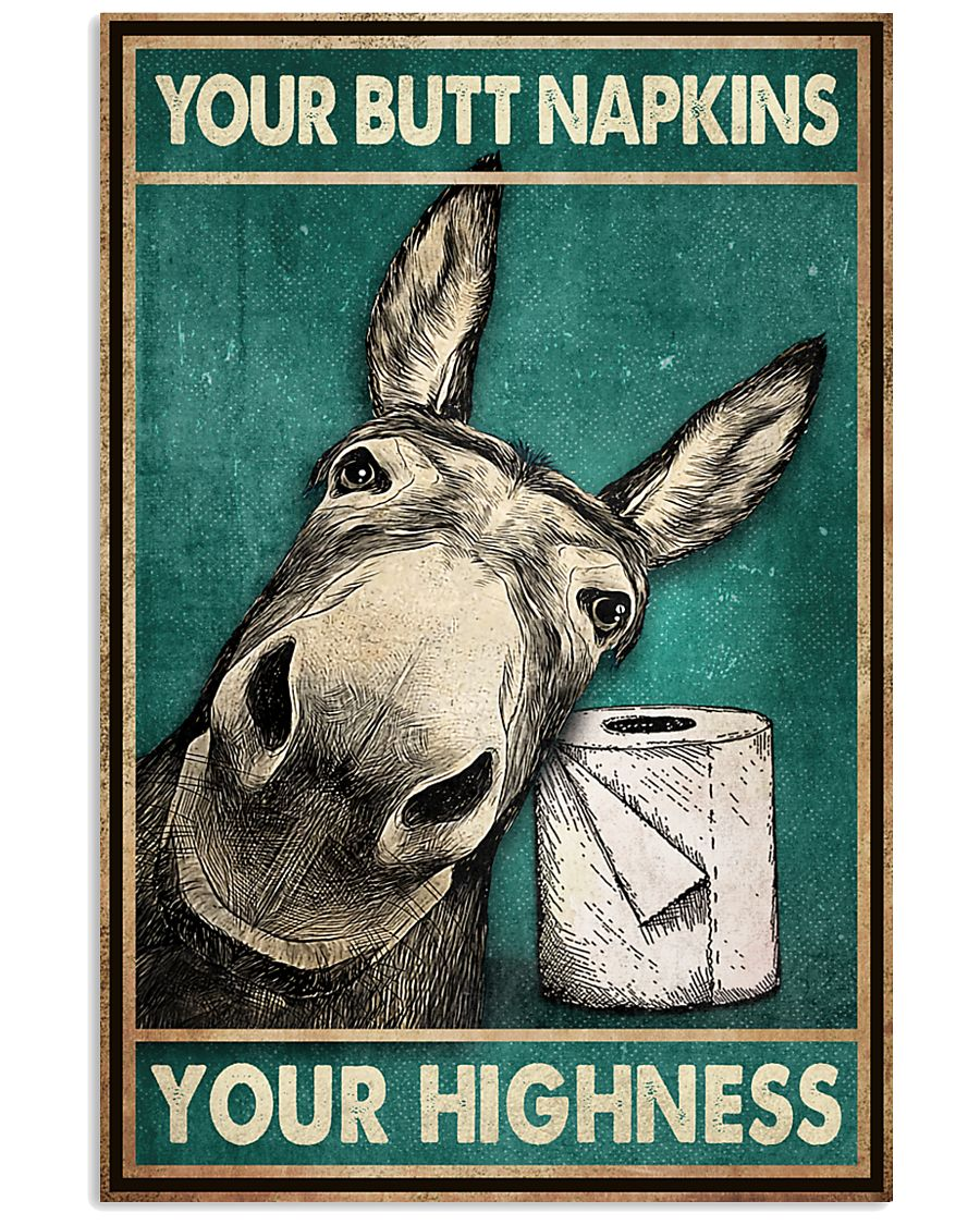 your butt napkins my highness donkey lover vintage poster 2