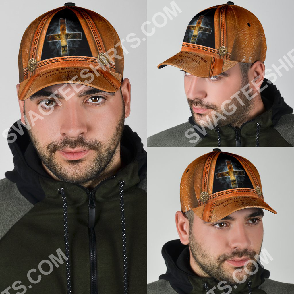 God and lion don't be afraid just have faith all over printed classic cap 4(1)
