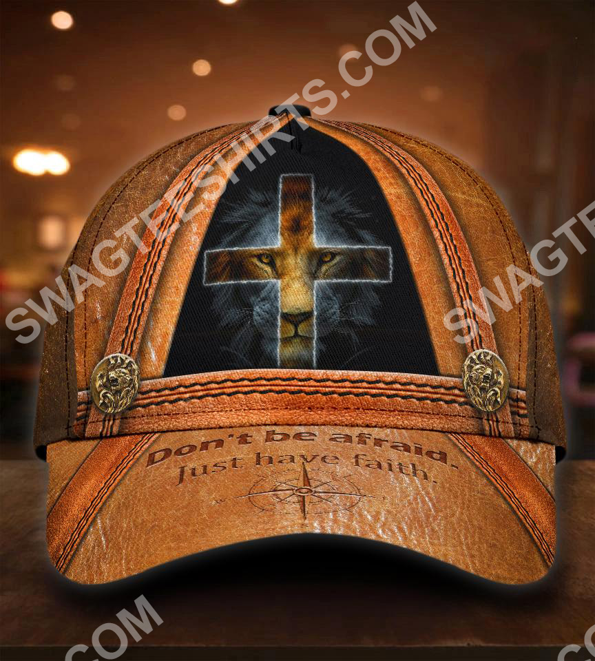 God and lion don't be afraid just have faith all over printed classic cap 5(1)
