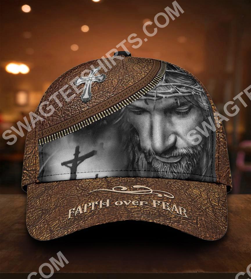 God faith over fear all over print classic cap 5(1)