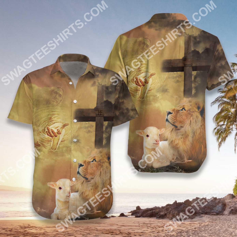 God let your faith be bigger than your fear all over printed hawaiian shirt 3(1)