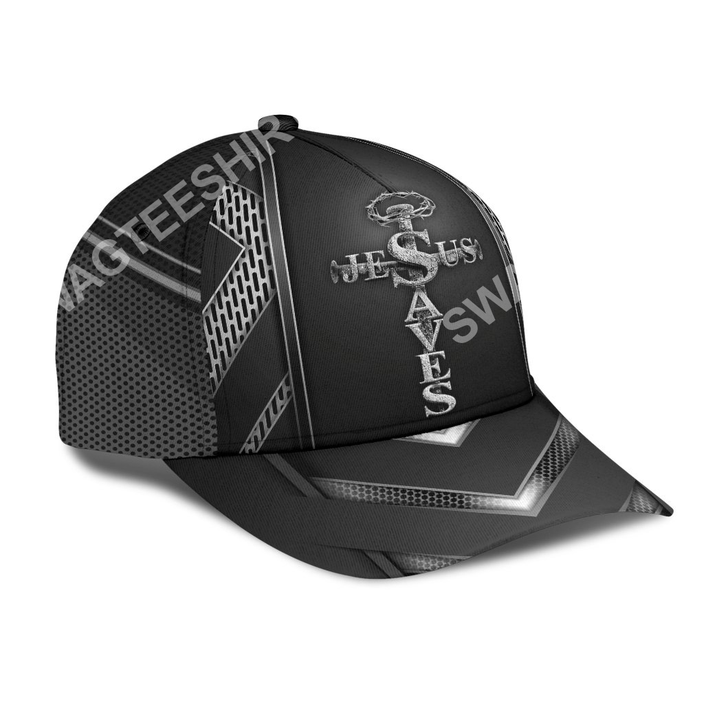 Jesus saves metal ​all over printed classic cap 2(1)