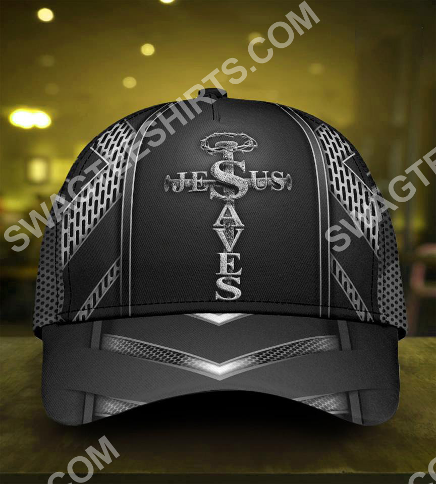 Jesus saves metal ​all over printed classic cap 5(1)