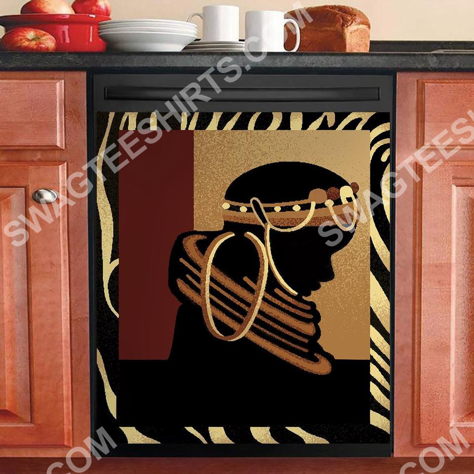 african women kitchen decorative dishwasher magnet cover 2 - Copy (2)