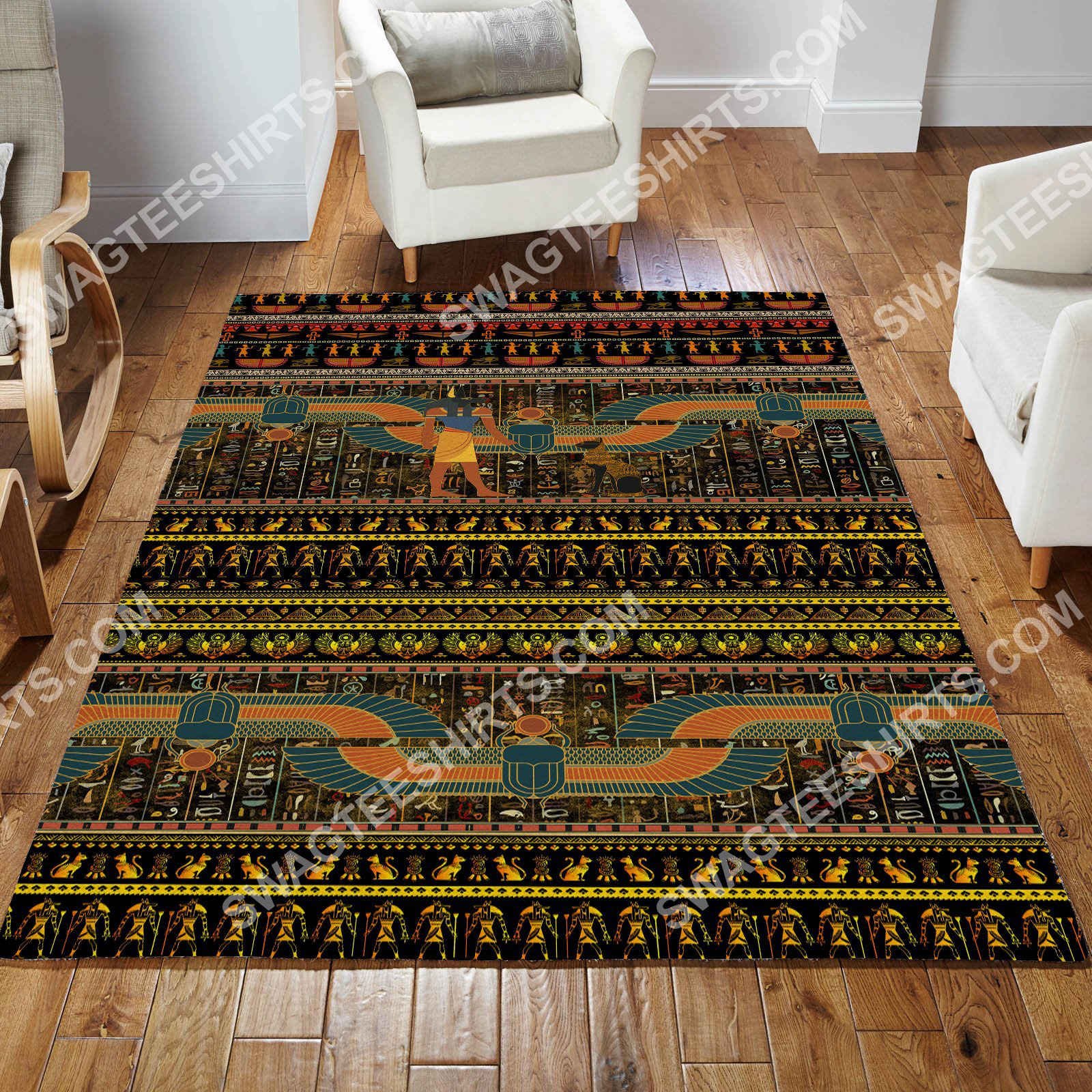 ancient egyptian culture all over printed rug 2(1)