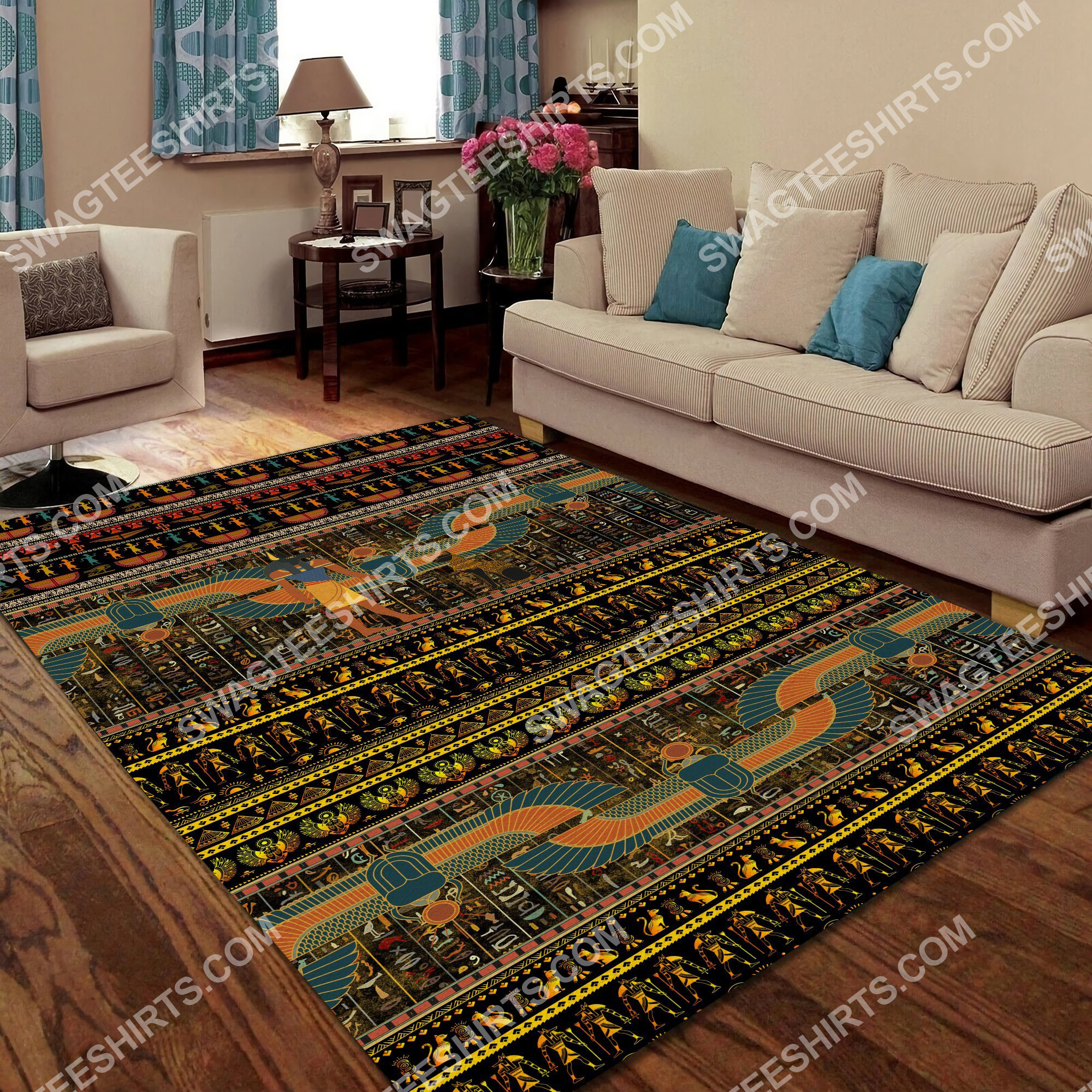 ancient egyptian culture all over printed rug 4(1) - Copy