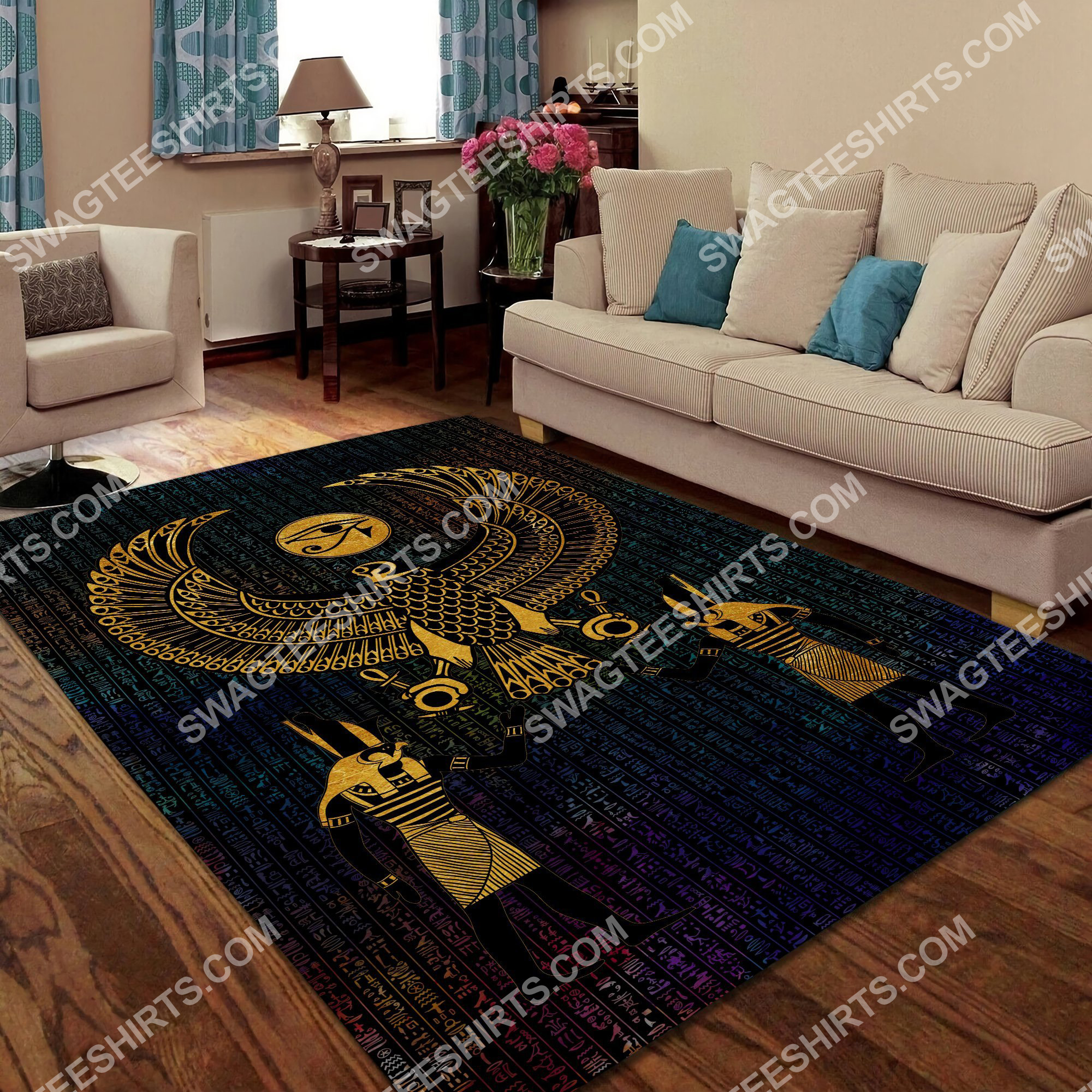 ancient egyptian eye of horus all over printed rug 4(1) - Copy