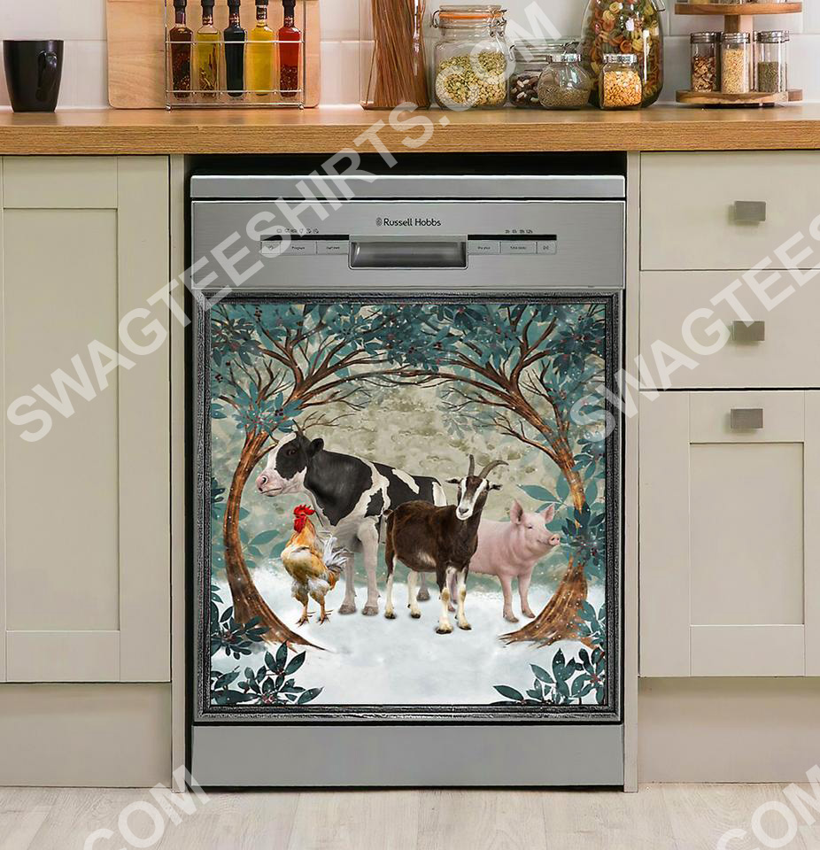animal farm kitchen decorative dishwasher magnet cover 2 - Copy