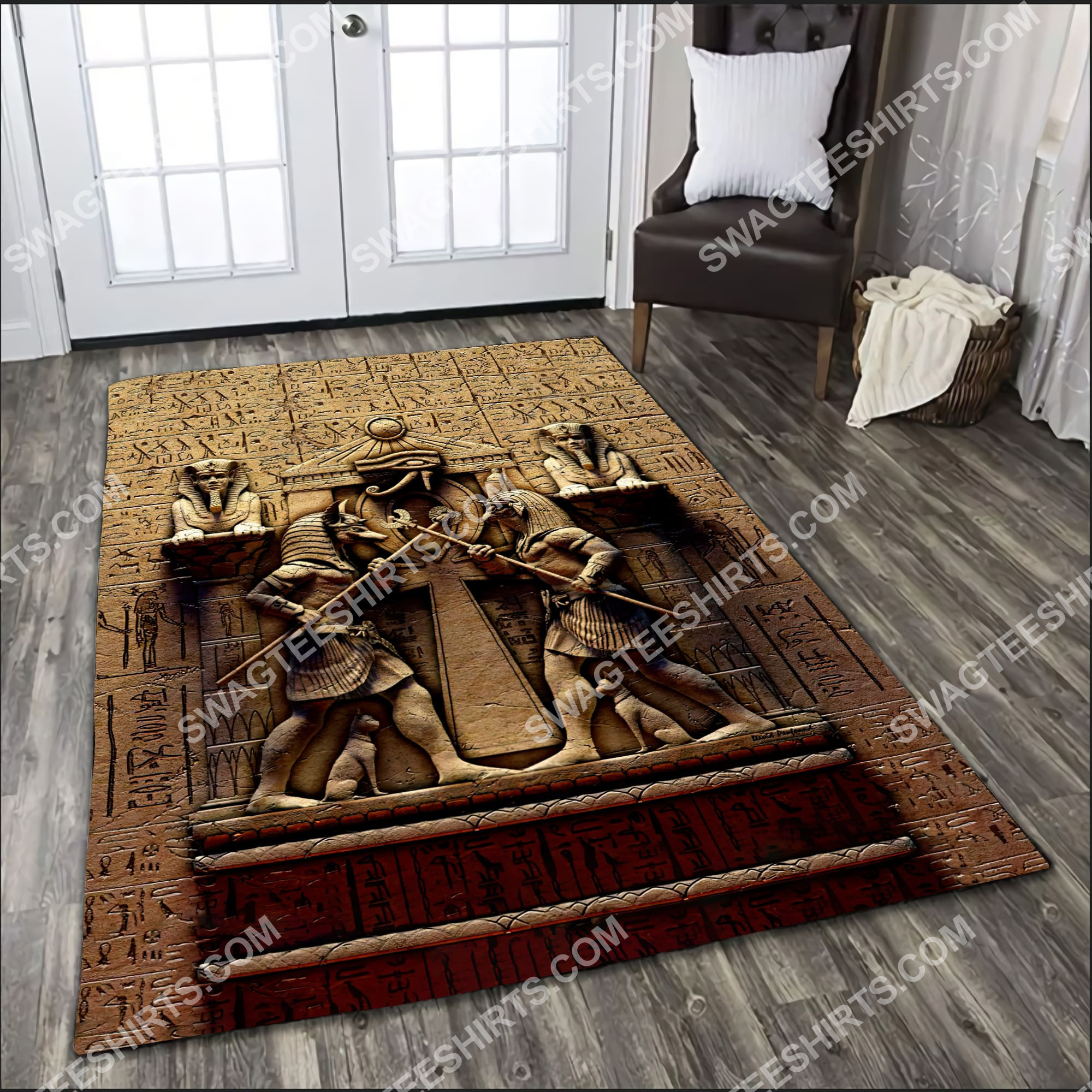 anubis egyptian civilization culture all over printed rug 3(1)