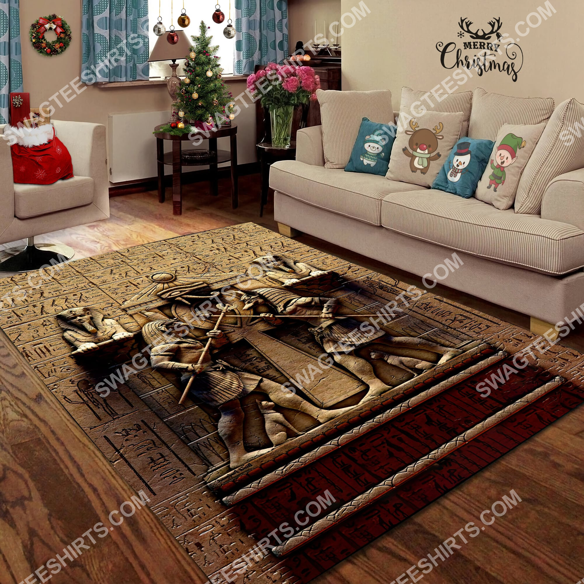 anubis egyptian civilization culture all over printed rug 4(1)