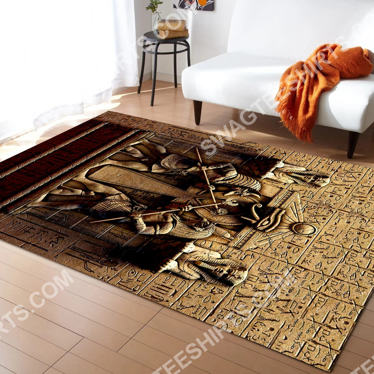 anubis egyptian civilization culture all over printed rug 5(1)
