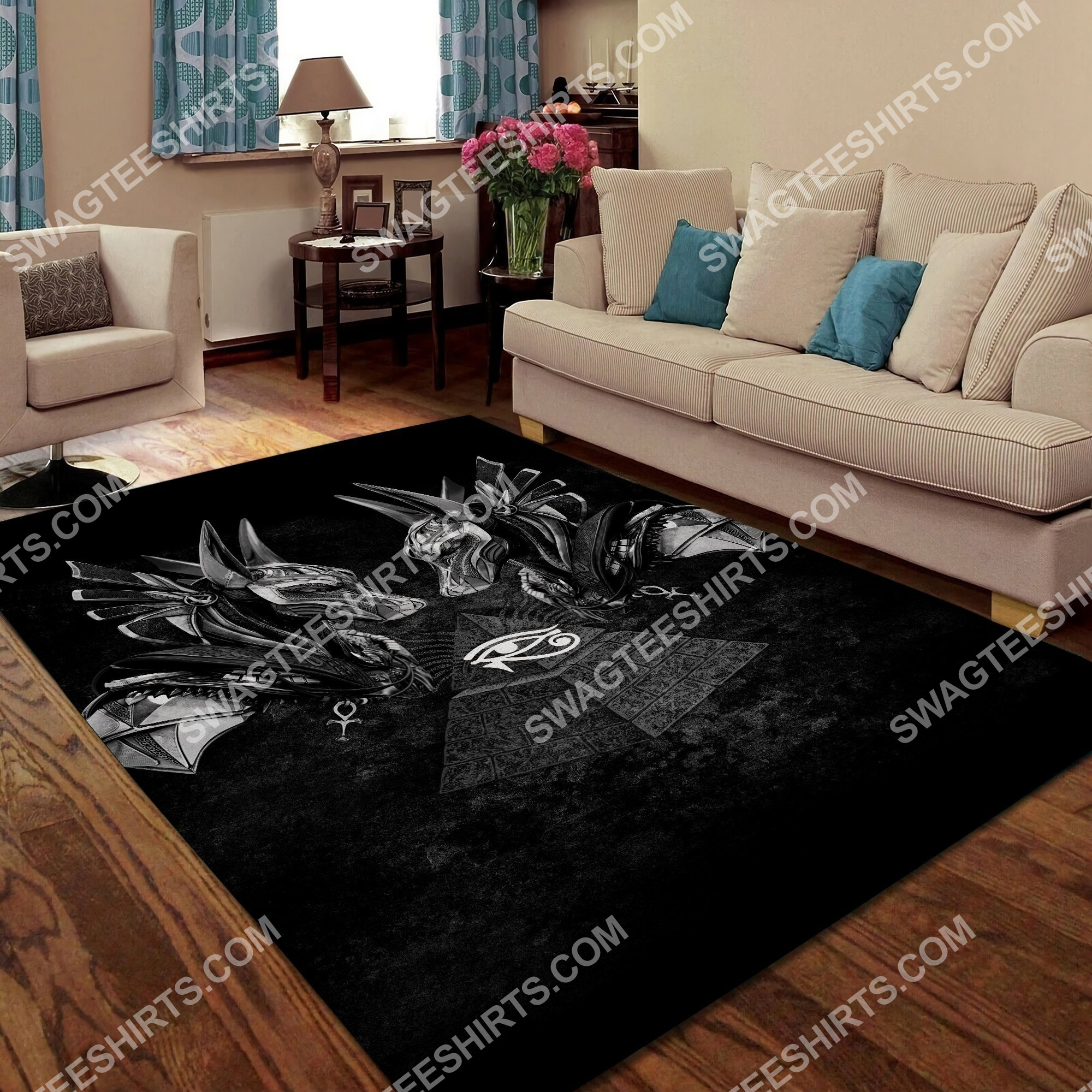 anubis god of the dead all over printed rug 4(1)