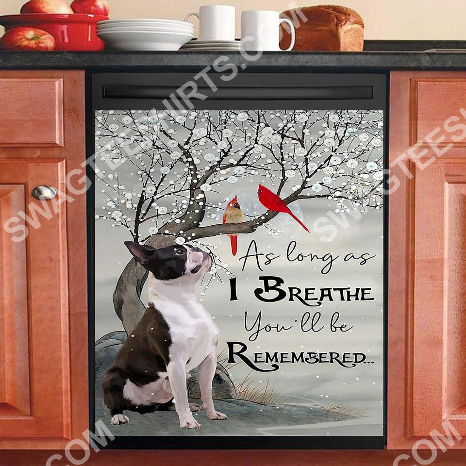 as long as i breathe you'll be remember kitchen decorative dishwasher magnet cover 2