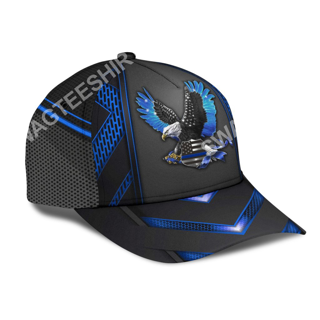 back the blue eagle with usa flag all over print classic cap 2(1)