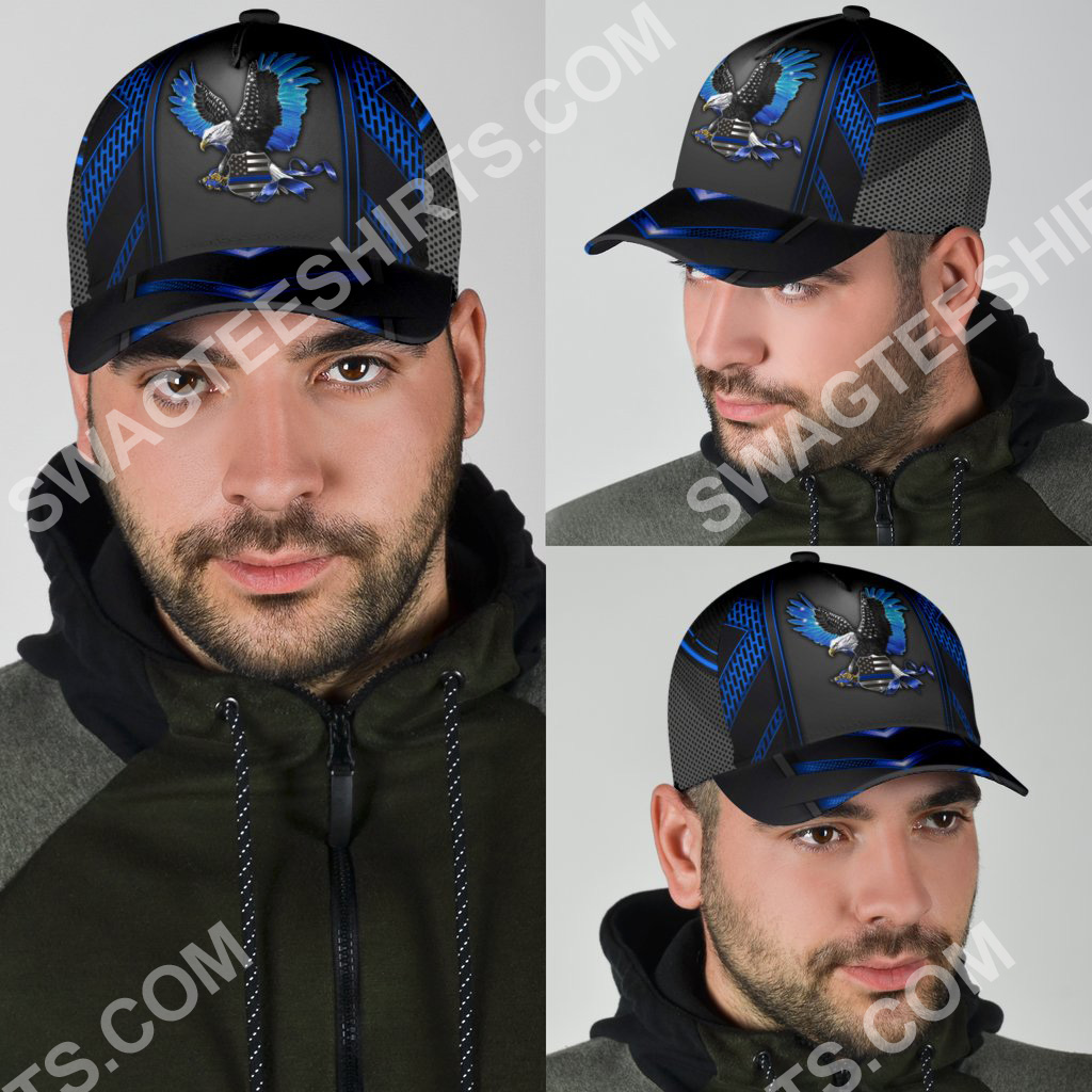 back the blue eagle with usa flag all over print classic cap 4(1)