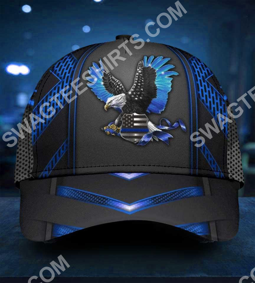 back the blue eagle with usa flag all over print classic cap 5(1)