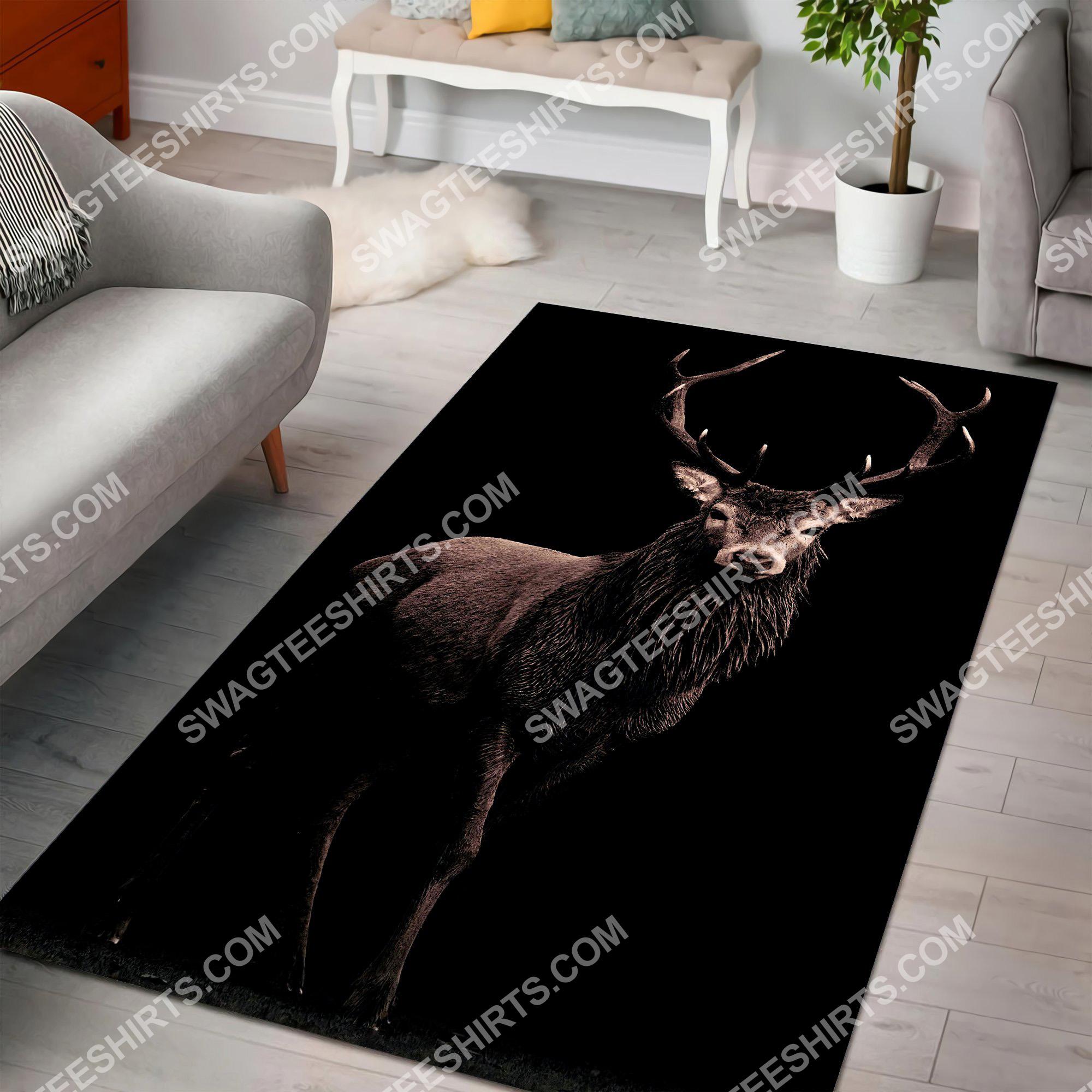 beautiful deer hunting season all over printed rug 2(1)