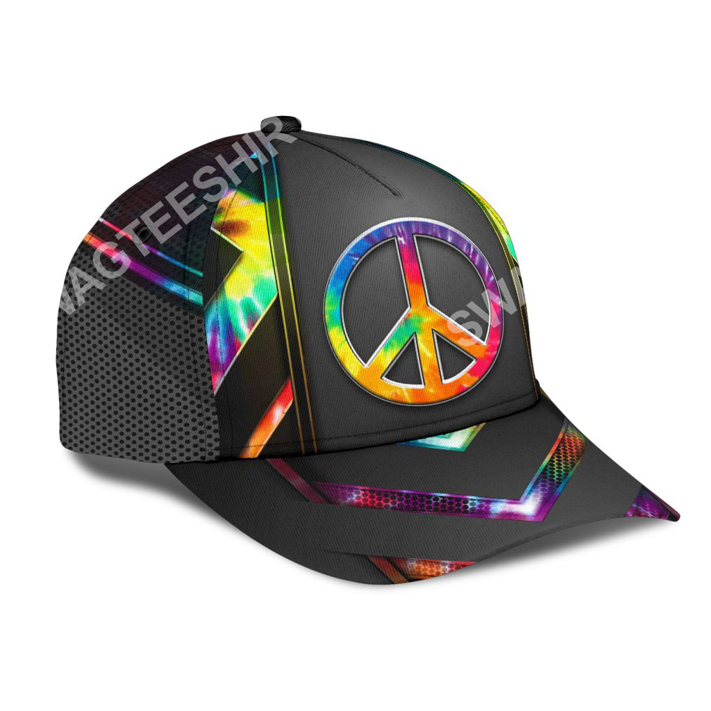 colorful hippie tie dye all over print classic cap 2(1)