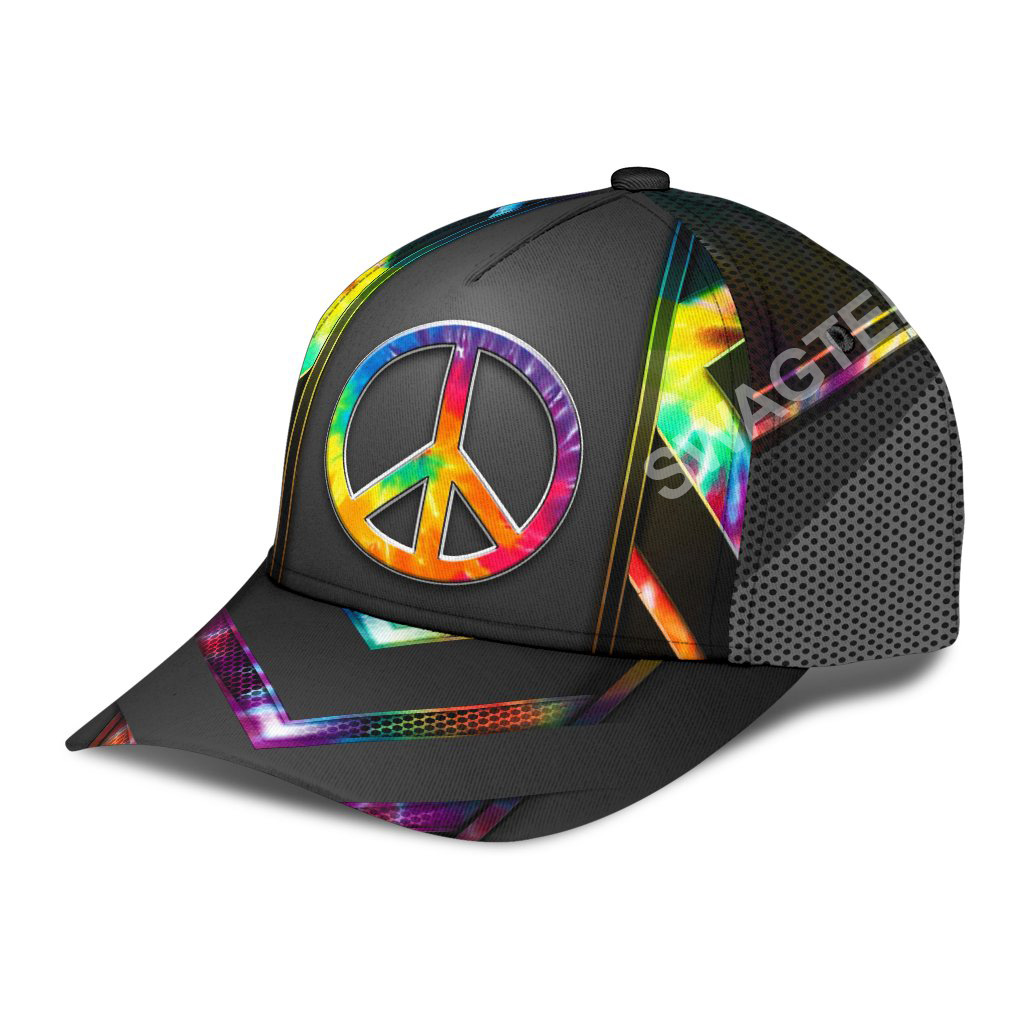 colorful hippie tie dye all over print classic cap 3(1)
