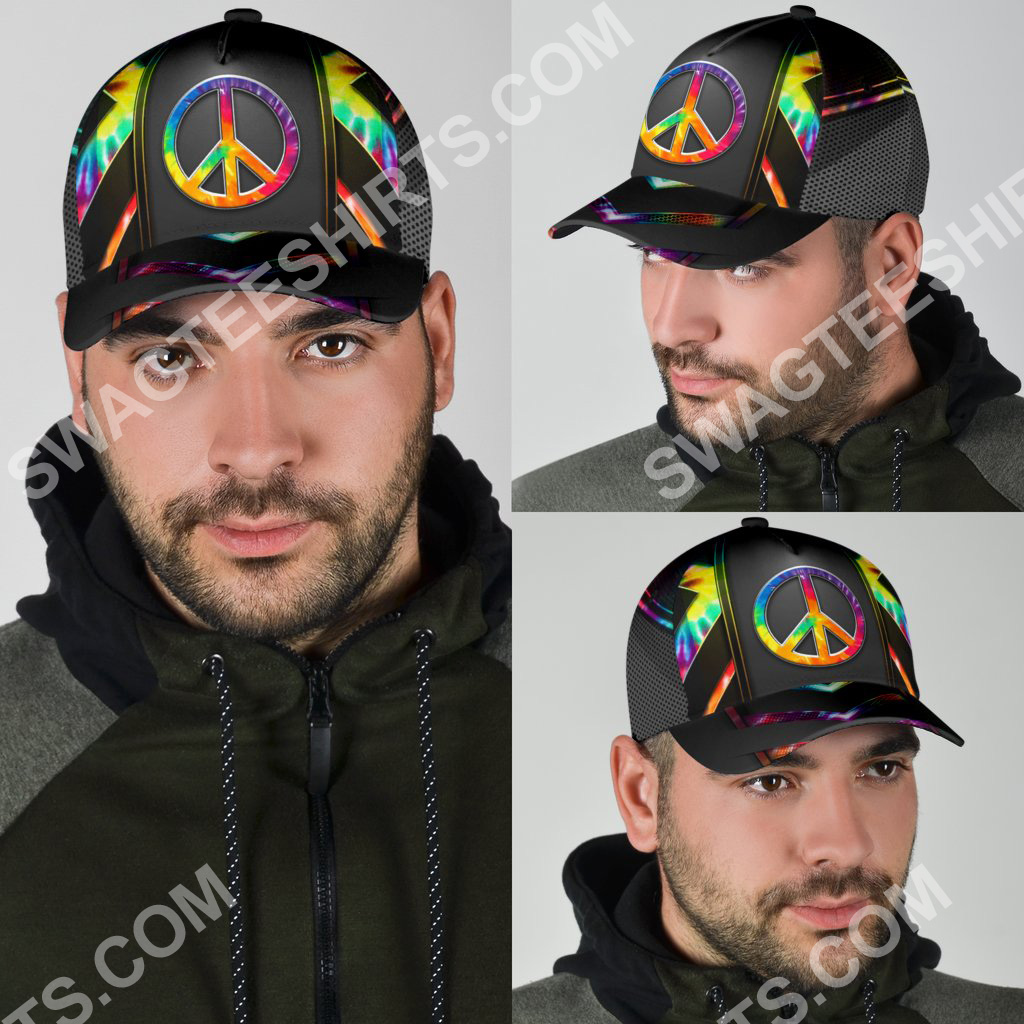 colorful hippie tie dye all over print classic cap 6(1)