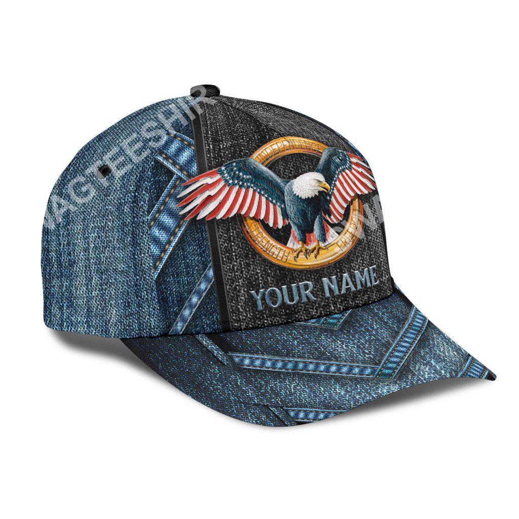 custom name american eagle flag all over print classic cap 3(1)
