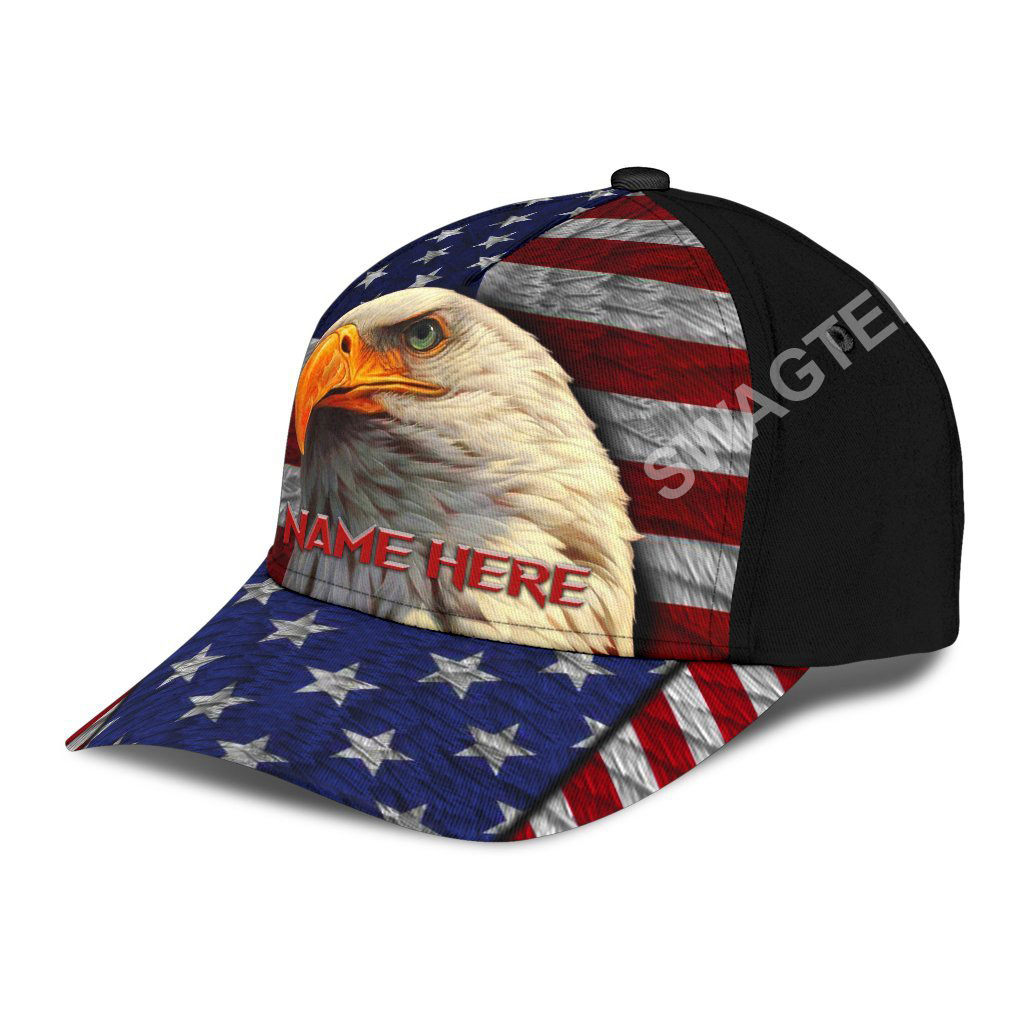 custom name american flag independence day all over printed classic cap 3(1)