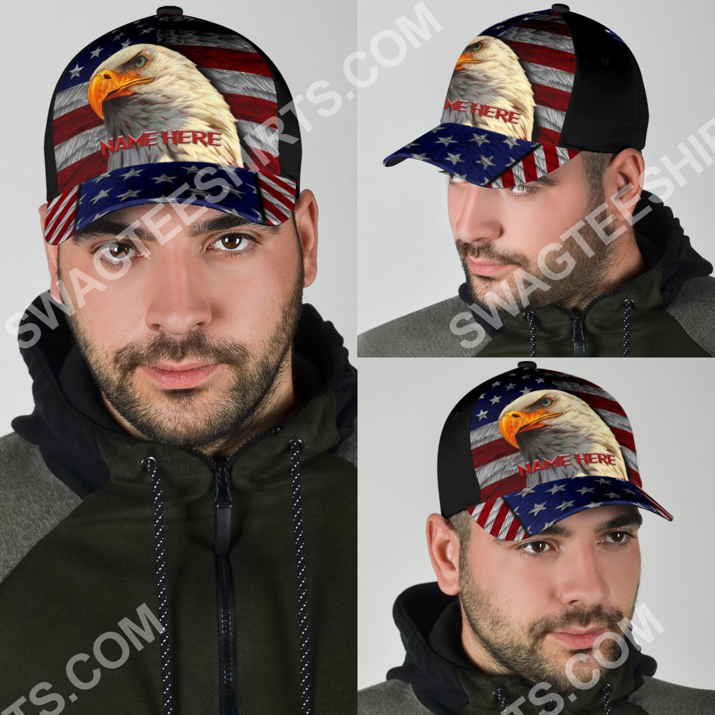 custom name american flag independence day all over printed classic cap 4(1)