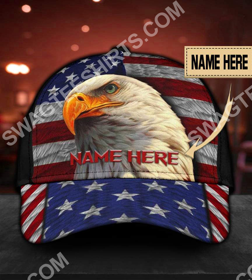 custom name american flag independence day all over printed classic cap 5(1)