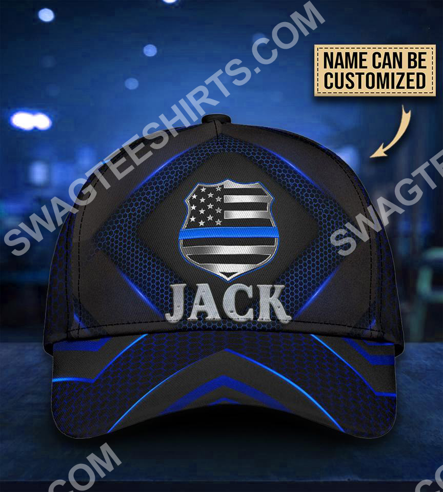 custom name back the blue all over printed classic cap 5(1)