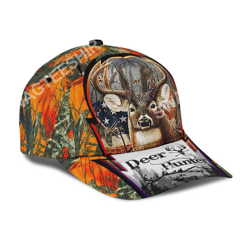 custom name deer hunter forest all over printed classic cap 2(1)
