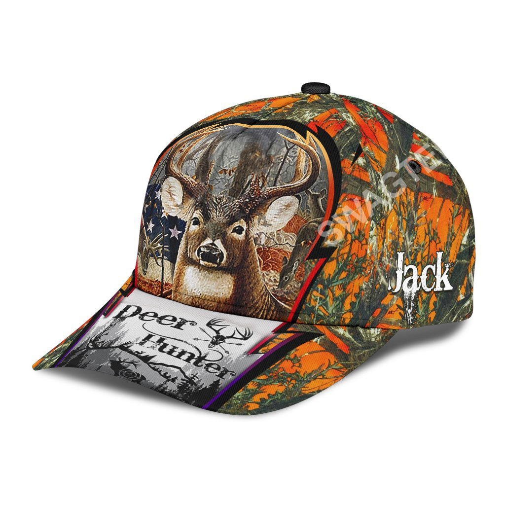 custom name deer hunter forest all over printed classic cap 3(1)