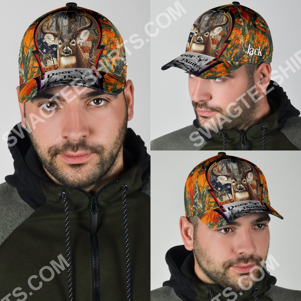 custom name deer hunter forest all over printed classic cap 4(1)