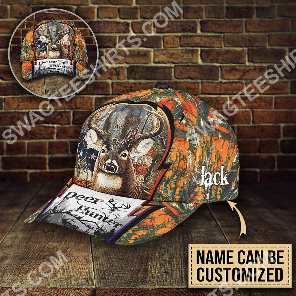 custom name deer hunter forest all over printed classic cap 5(1)