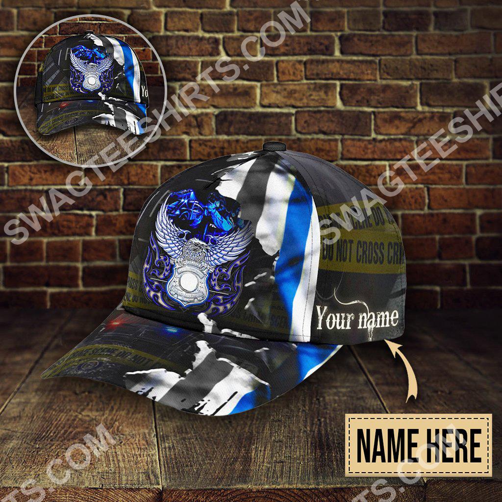 custom name eagle back the blue all over printed classic cap 5(1)