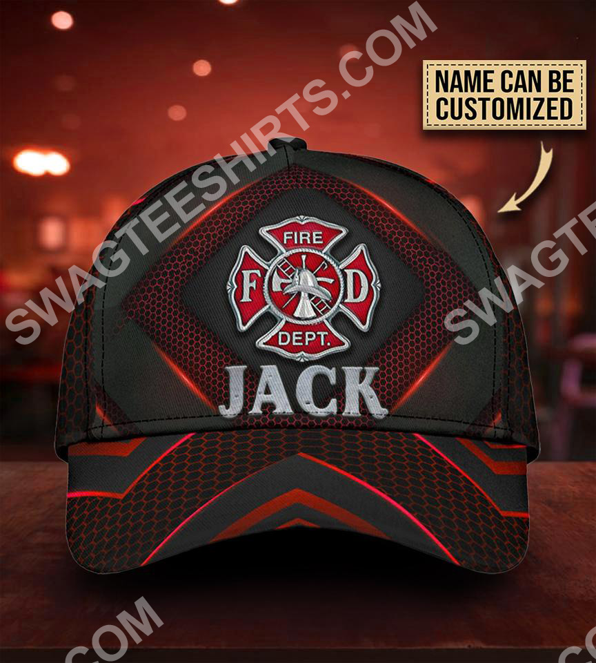 custom name firefighter all over printed classic cap 5(1)