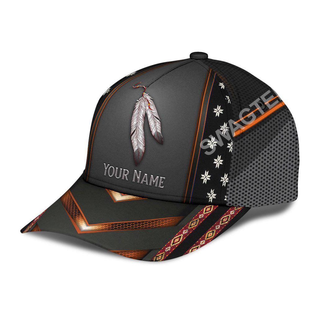 custom name native american pride all over print classic cap 2(1)