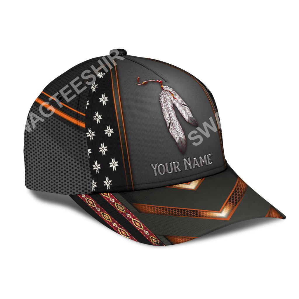 custom name native american pride all over print classic cap 3(1)
