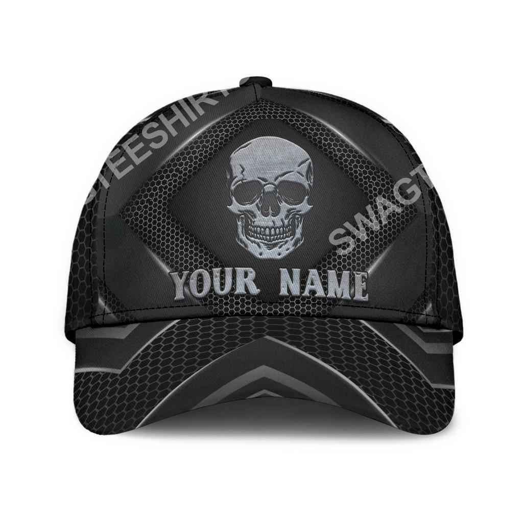 custom name skull all over print classic cap 2(1)