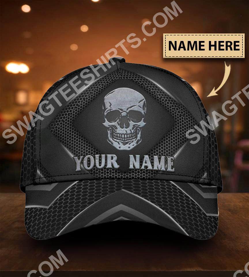 custom name skull all over print classic cap 5(1)