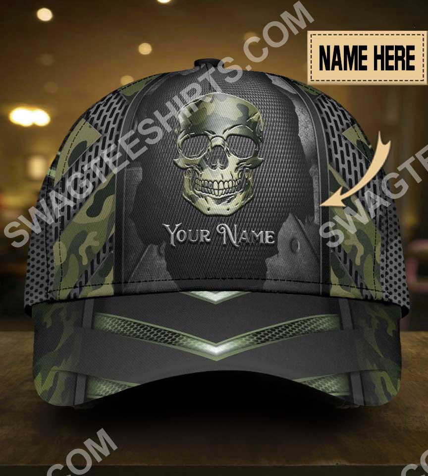 custom name skull camo all over printed classic cap 5(1)