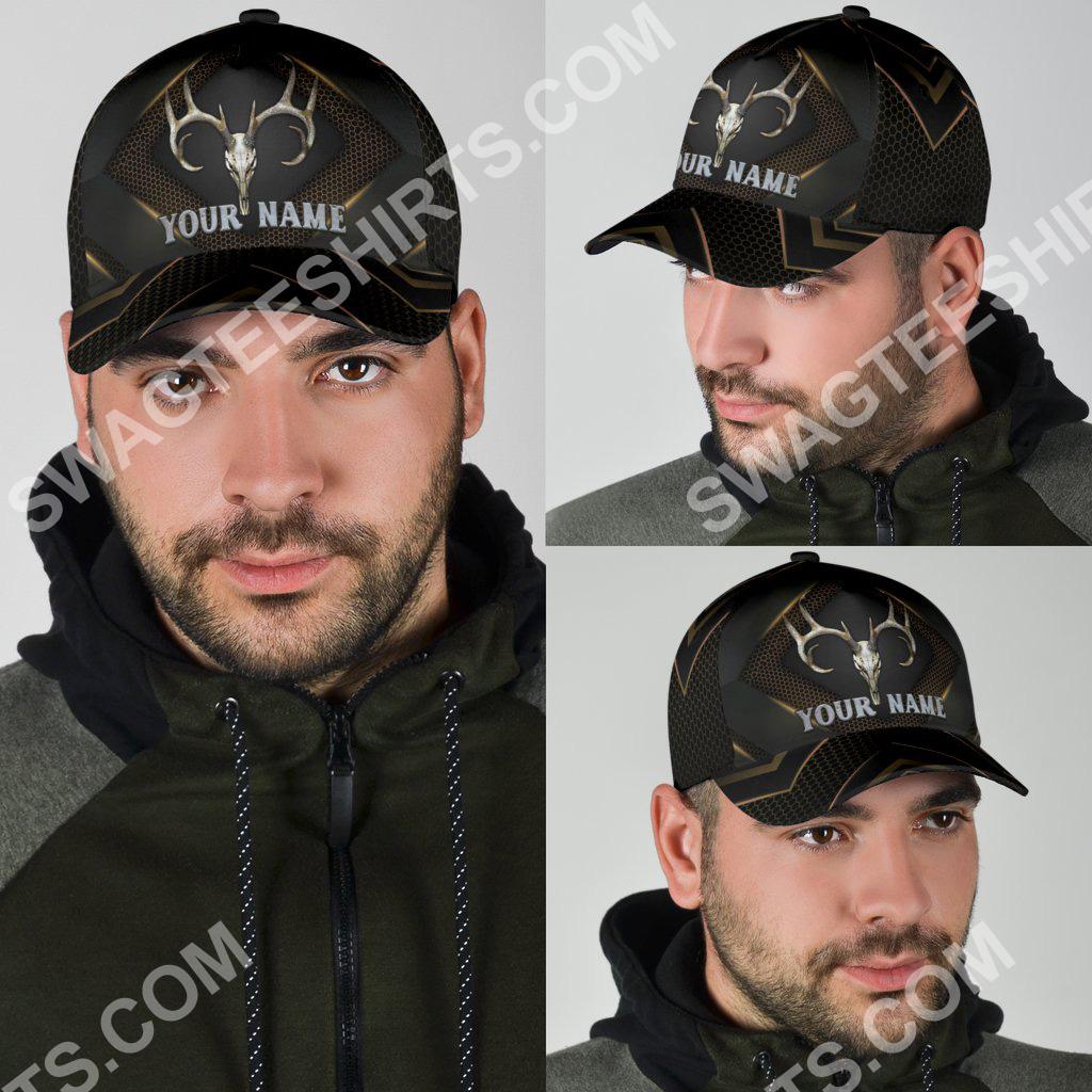 custom name skull deer hunter all over printed classic cap 4(1)