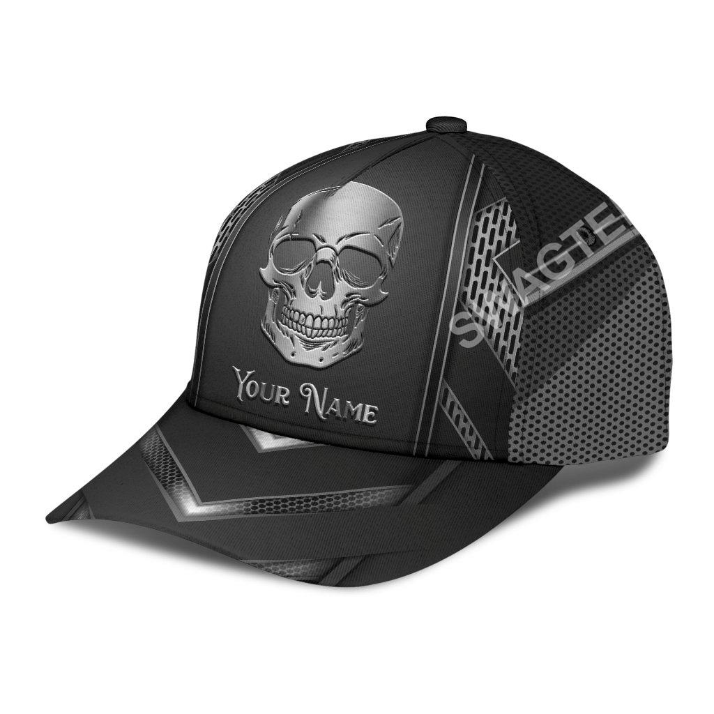 custom name skull metal all over print classic cap 2(1)