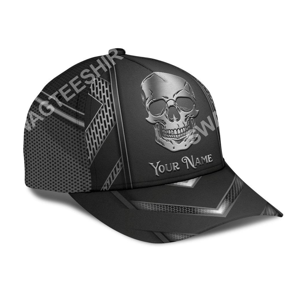custom name skull metal all over print classic cap 3(1)