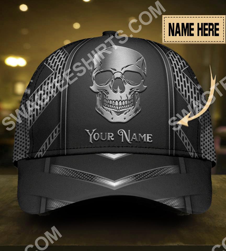 custom name skull metal all over print classic cap 5(1)