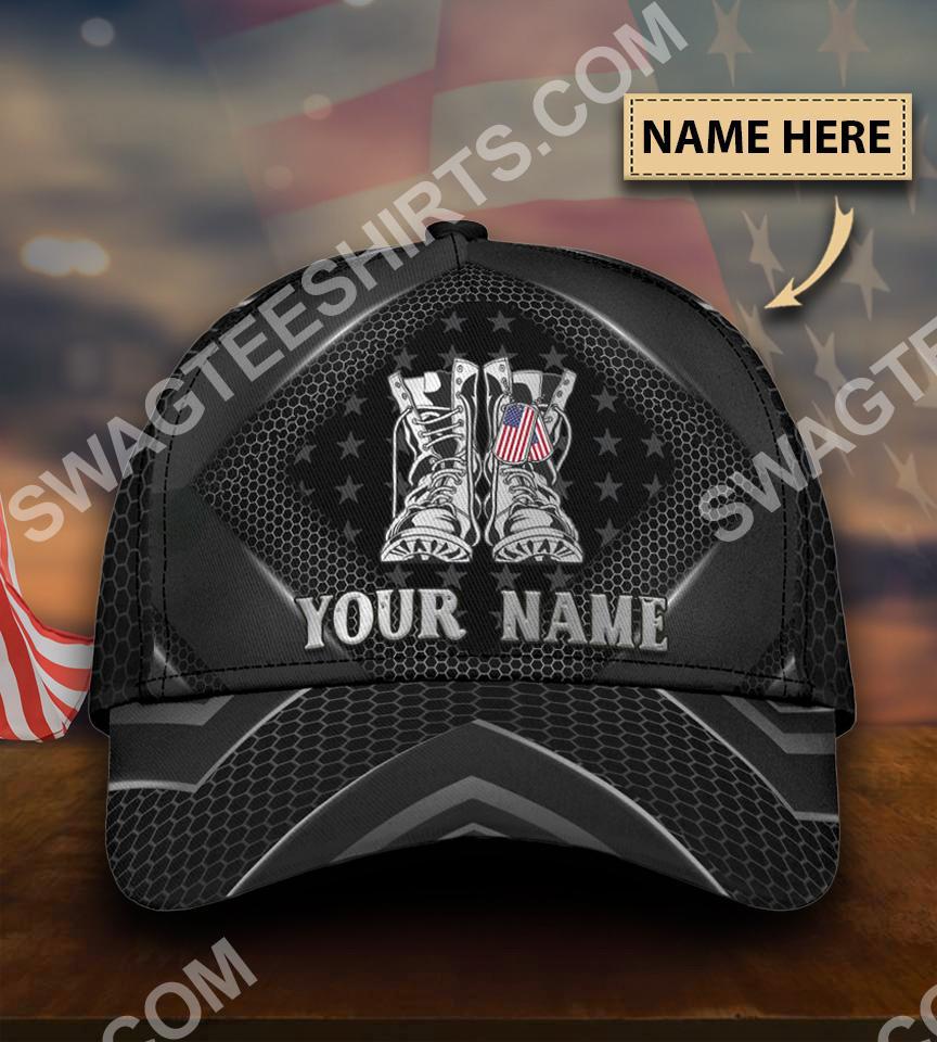 custom name veteran boots all over printed classic cap 5(1)
