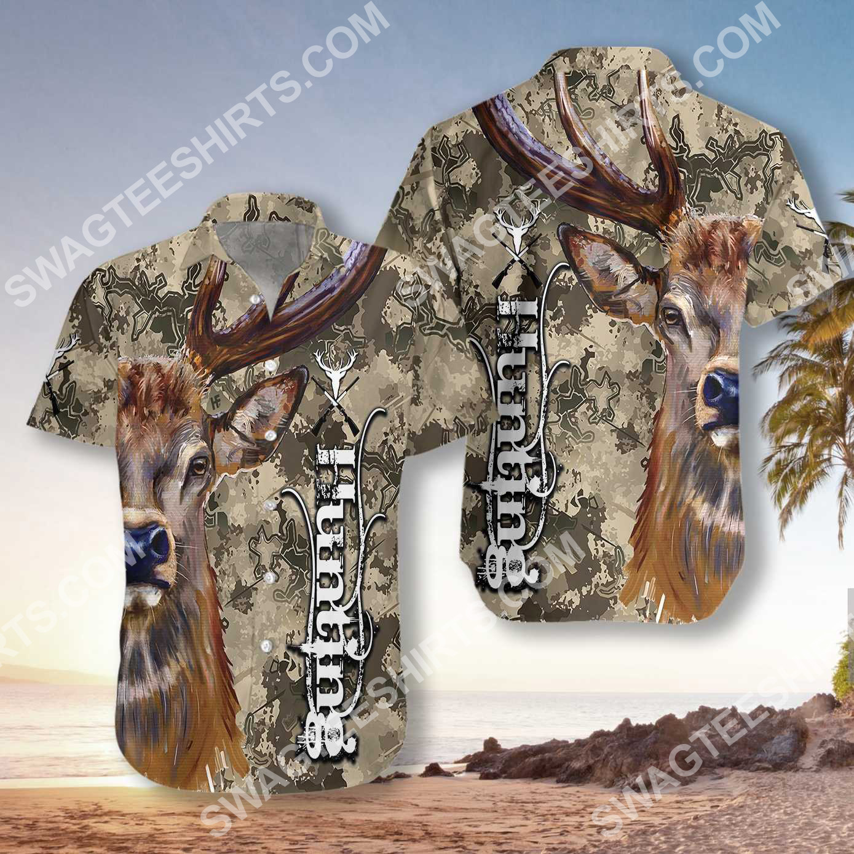 deer and camo hunting all over printed hawaiian shirt 2(1)