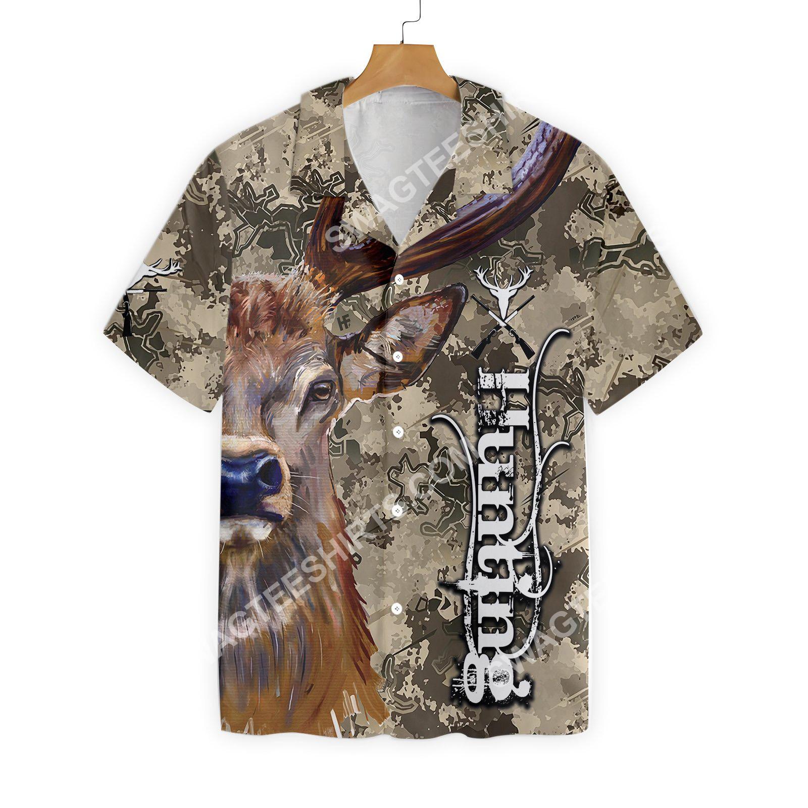 deer and camo hunting all over printed hawaiian shirt 3(1)