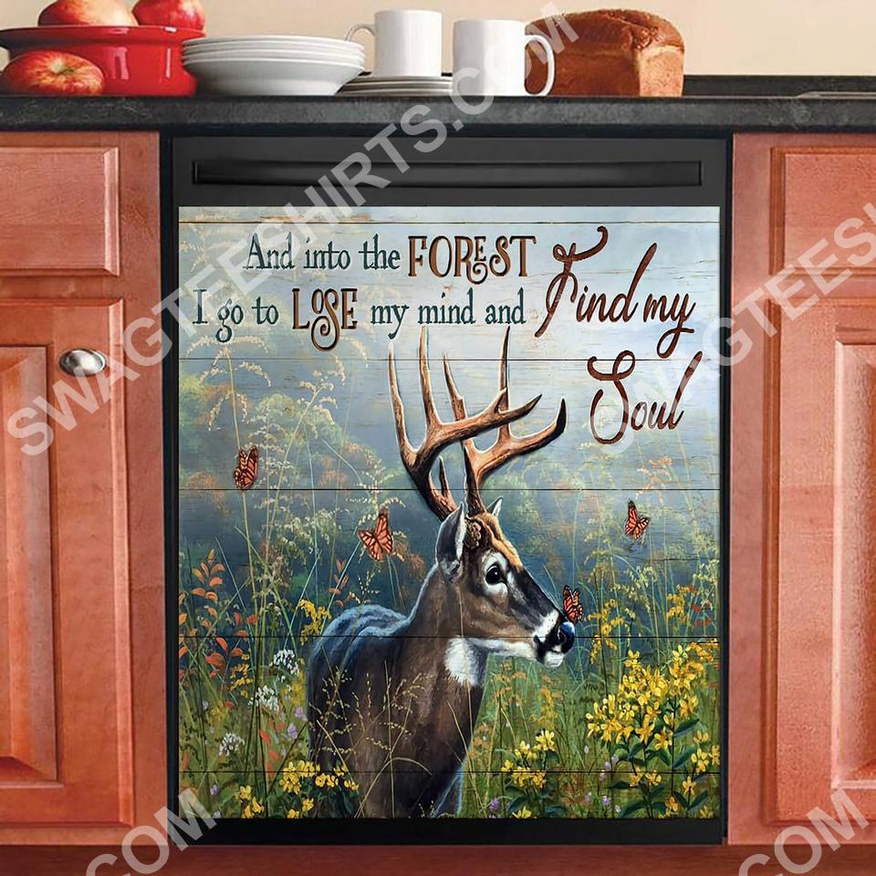 deer find my soul kitchen decorative dishwasher magnet cover 2 - Copy