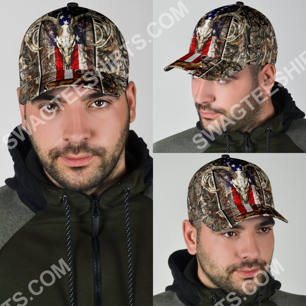 deer hunting camo pattern all over printed classic cap 4(1)