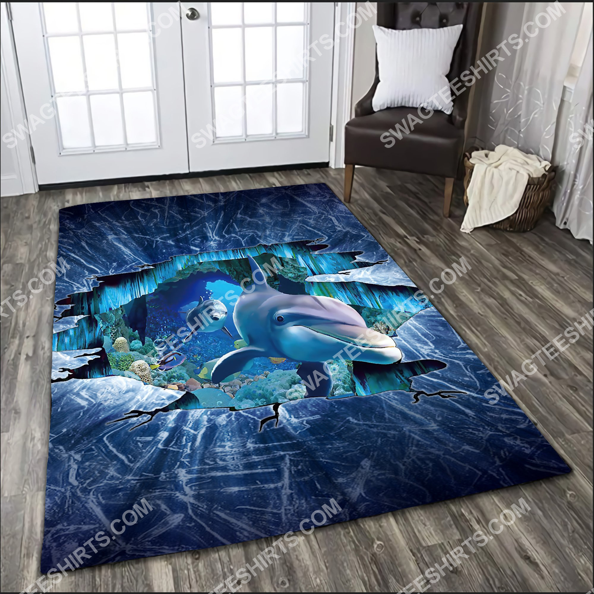 dolphin lovers art all over printed rug 2(1)
